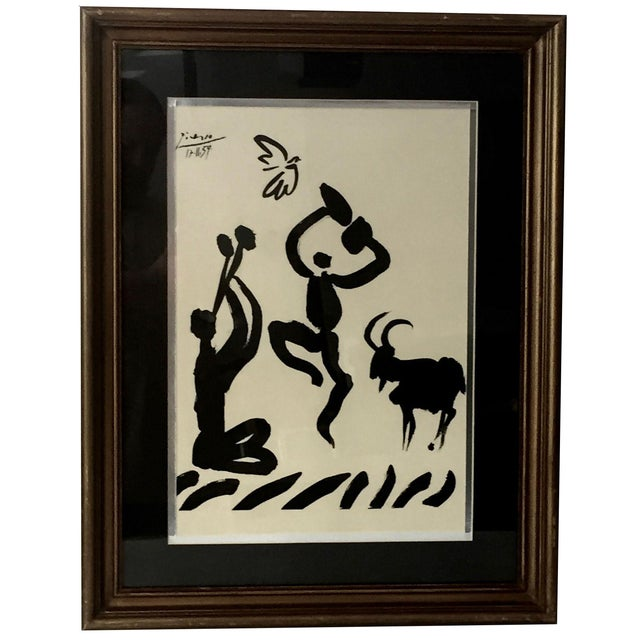 """1959 Picasso Lithograph """"Goat Dance"""" - Image 1 of 5"""