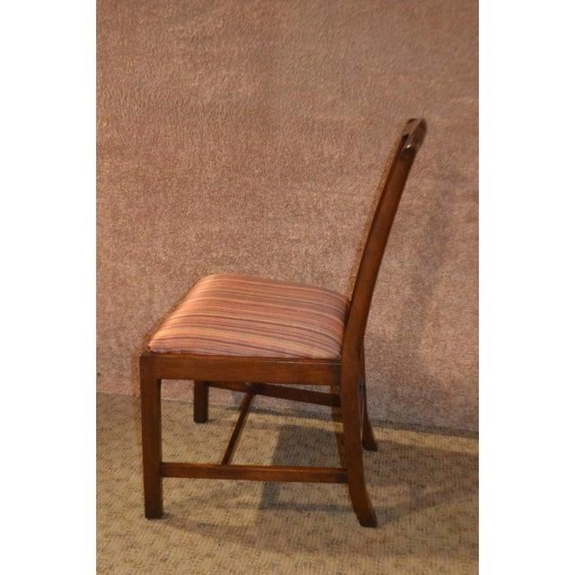 Vintage Ardley Hall Mahogany Chippendale Style Chairs - Set of 8 For Sale In Philadelphia - Image 6 of 13