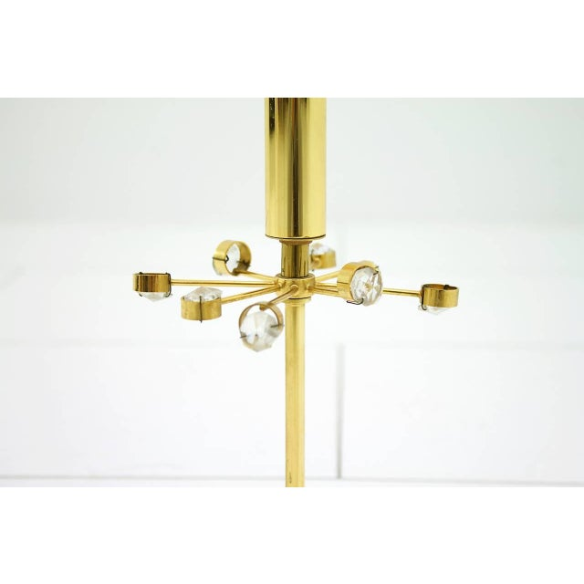 Palwa Table Lamp With Crystal Glass and Gilded Brass Germany, 1960s For Sale - Image 6 of 8