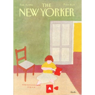 Vintage 1982 New Yorker Cover, February 15 (Heidi Goennel), Valentine's Day For Sale