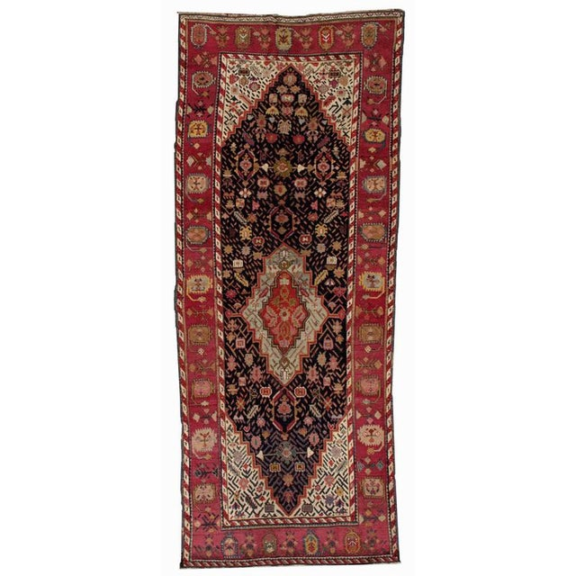 1880s Antique Hand Made Caucasian Karabagh Rug- 4′6″ × 11′7″ For Sale