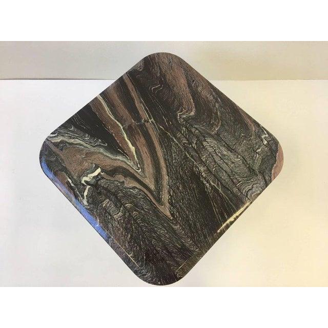 Italian Marble Side Table For Sale In Palm Springs - Image 6 of 10