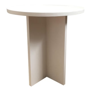 White X-Base Side / End Table For Sale
