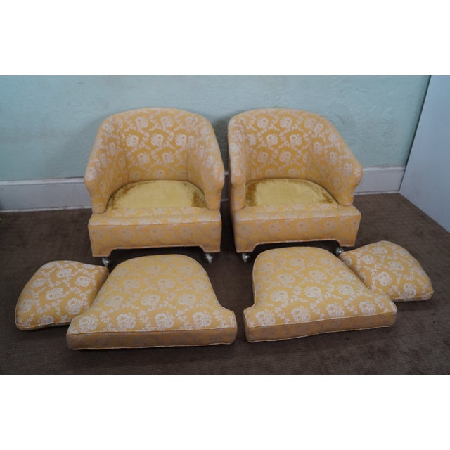Mid-Century Barrel Back Lounge Chairs - Pair - Image 5 of 10
