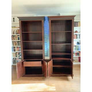 English Colonial Wood Shelves - a Pair Preview
