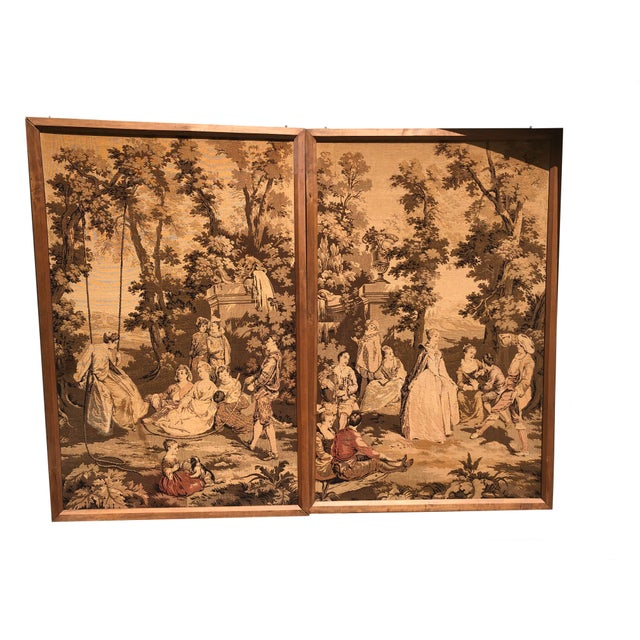 19th Century French Tapestries - a Pair For Sale - Image 11 of 11