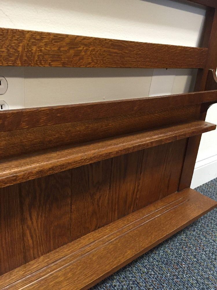Stickley Plate Rack Mission Oak - Image 4 of 6  sc 1 st  Chairish & Stickley Plate Rack Mission Oak | Chairish