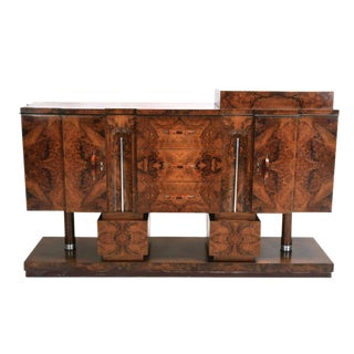 Art Deco Buffet Burl Walnut Circa 1930 For Sale