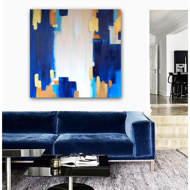 "Abstract Painting ""LAGUNA""by Linnea Heide - Image 6 of 6"