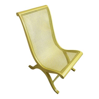 Yellow Boho Chique Campeche Chair For Sale