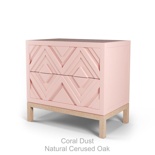 Not Yet Made - Made To Order Susana Side Table - Coral Dust, Natural Cerused Oak For Sale - Image 5 of 5