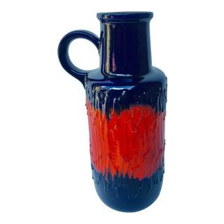 1960s Vintage Scheurich Keramik West German Tall Pottery Floor Vase For Sale