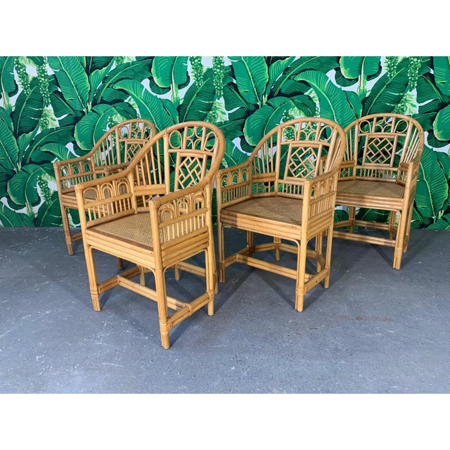 Brighton Pavillion Style Dining Chairs - Set of 4 For Sale - Image 9 of 9