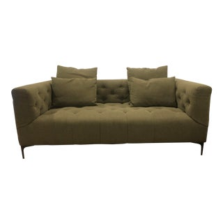 Emerald Green 2 Seater Sofa For Sale