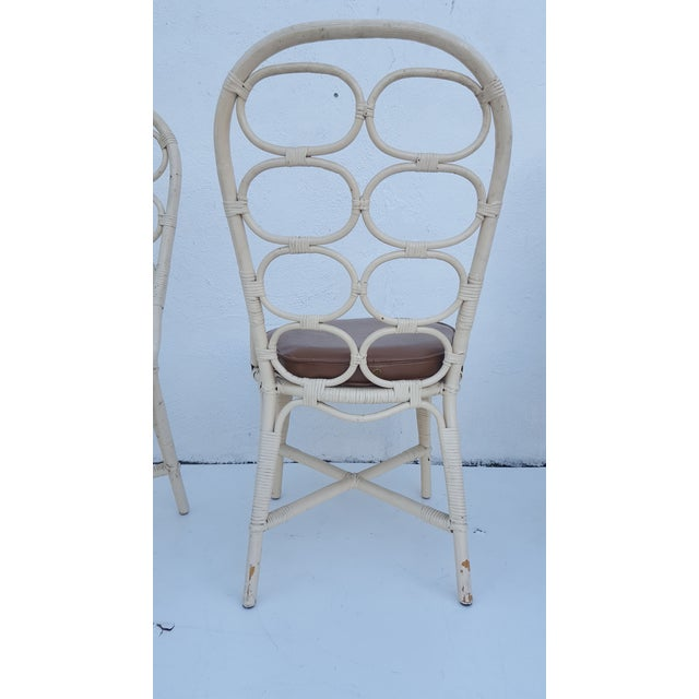 Franco Albini Inspired Rattan Dining Chairs - Set Of 6 - Image 7 of 11