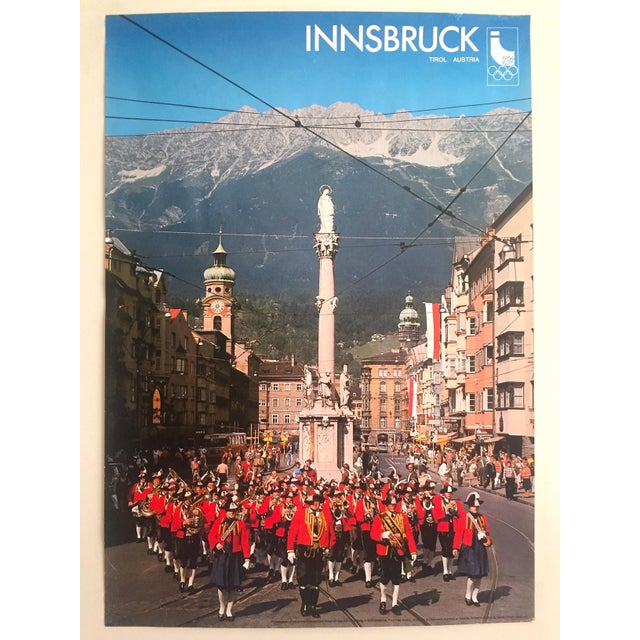 """Rare Vintage 1976 """" Innsbruck Tirol Olympics Winter Games """" Lithograph Print Austria Travel Poster For Sale - Image 12 of 13"""