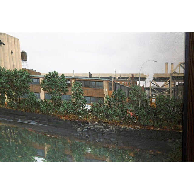 "Canvas Oil on Canvas by Randy Dudley Titled ""4th St. Basin - Gowanus Canal"" For Sale - Image 7 of 13"