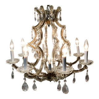 Vintage Maria Theresa Crystal Chandelier For Sale
