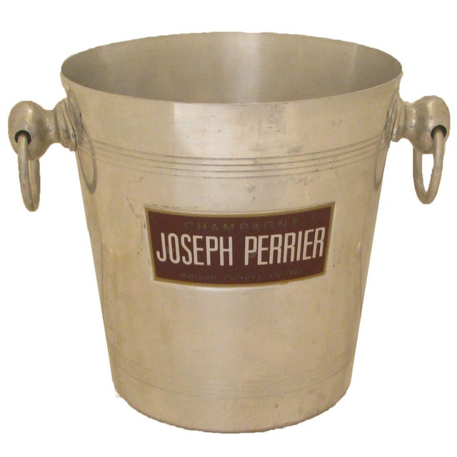 French Vintage French Champagne / Ice Bucket For Sale - Image 3 of 3