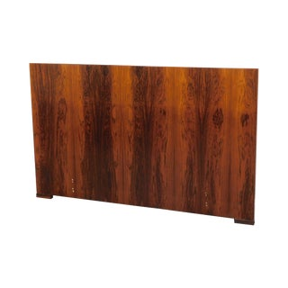 Rosewood Danish Modern Vintage Full or Queen Size Headboard For Sale