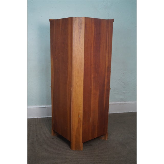 Brandt Ranch Oak Rustic Corner Cabinet - Image 4 of 10