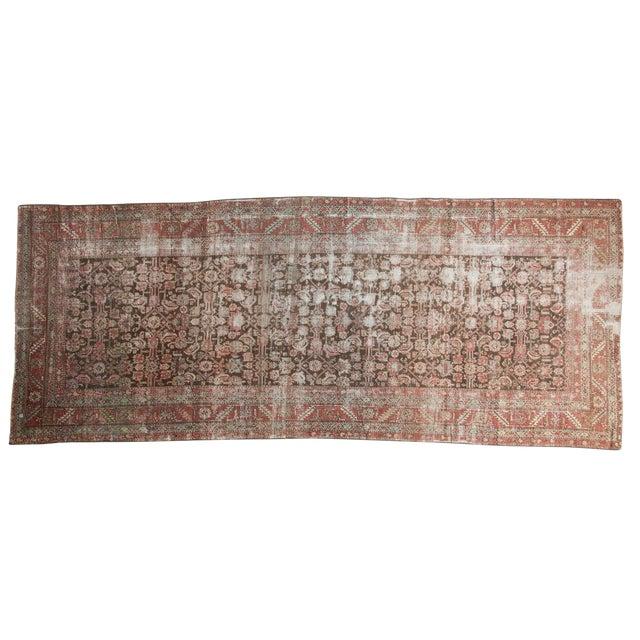 """Antique Distressed Karabagh Rug Runner - 5'4"""" X 13' For Sale"""