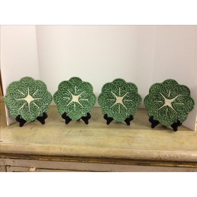 Vintage Portugese Cabbage Plates - Set of 4 - Image 2 of 4