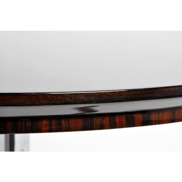 Round Table with Metal Legs and New Veneer Top For Sale - Image 10 of 11