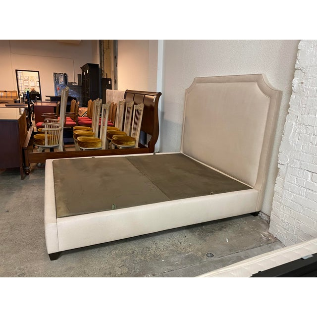 2010s California King Nathan Anthony Brownstone Upholstered Bedframe For Sale - Image 5 of 11