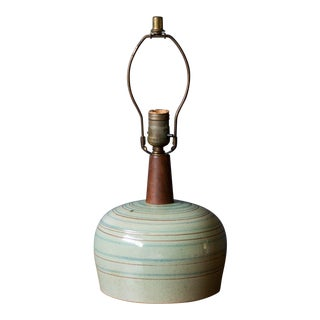 Mid-Century Modern Gordon and Jane Martz Pottery Accent Lamp For Sale