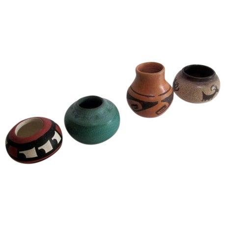 Vintage Mid Century Studio Pottery Pots - Set of 4 - Image 1 of 6