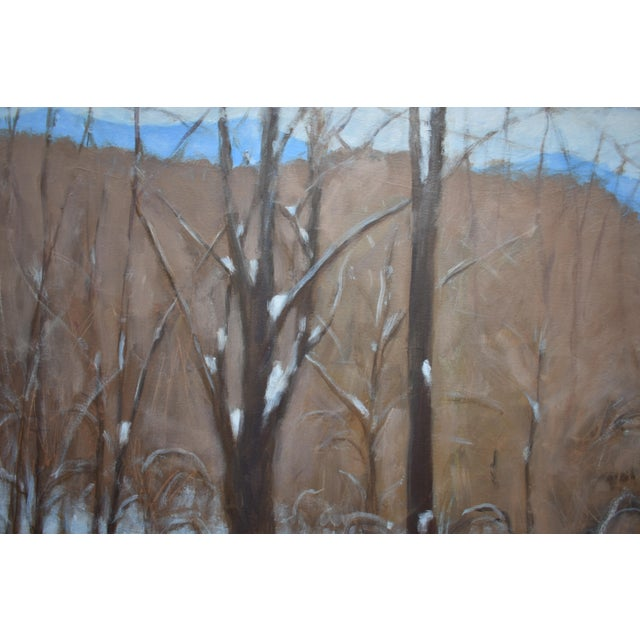 """Canvas Stephen Remick """"Heading Up the Hill, Looking Back"""" Large Contemporary Landscape Painting For Sale - Image 7 of 12"""