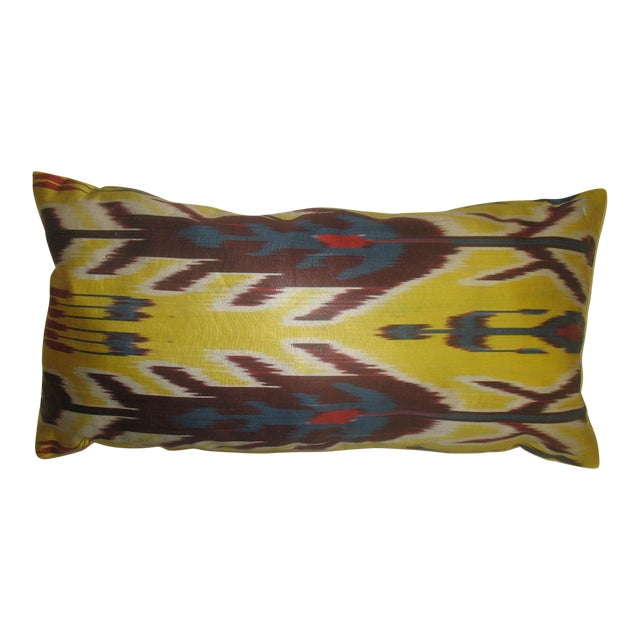 Yellow Ikat Pillow - Image 1 of 3