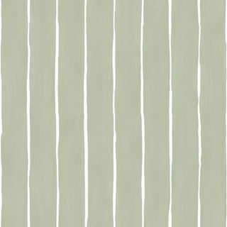 Cole & Son Marquee Stripe Wallpaper Roll - Soft Olive For Sale