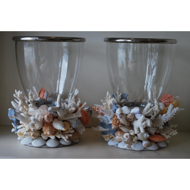 These large Hurricane Lanterns make an illuminated statement on a table, mantle or sideboard. These look beautiful lit...