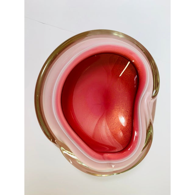 Mid-Century Modern 1950s Seguso Cased Glass Sommerso Geode Bowl For Sale - Image 3 of 10