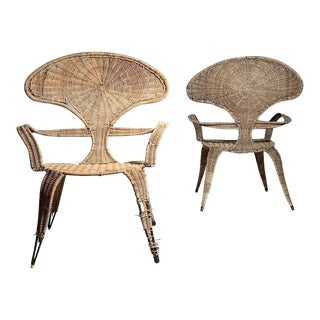 Tropi-Cal Danny Ho Fong and Miller Fong Garden Patio Chairs - A Pair For Sale