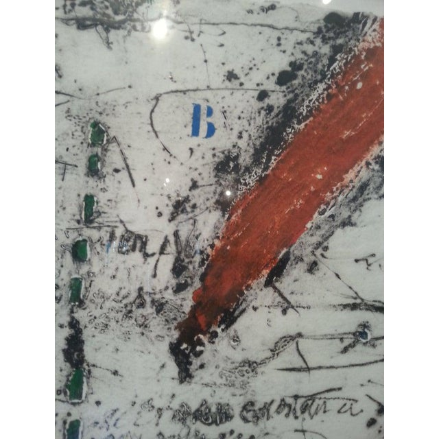 """Green Vintage James Coignard Mixed Media Etching Lithograph """"Ea"""" Artist Proof For Sale - Image 8 of 12"""