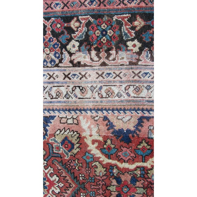 "Red and Blue Peshawar Area Rug - 13'1"" X 10' - Image 4 of 8"