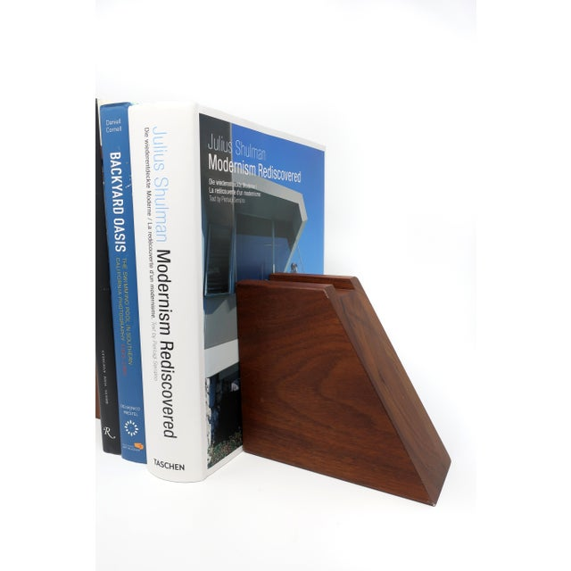 Mid-Century Modern Walnut Bookends For Sale - Image 9 of 10