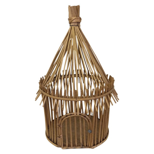 Vintage Bamboo Birdcage - Image 1 of 8