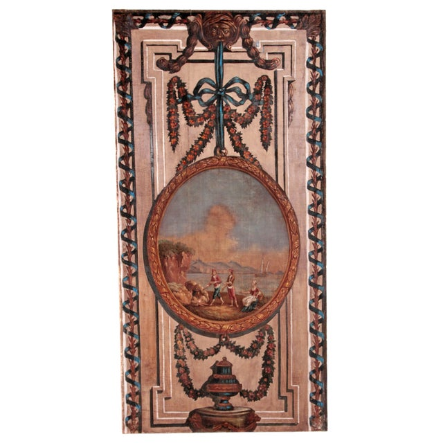A Set of Five Large Hand-Painted Trompe l'Oeil Wall Panels - Image 4 of 11