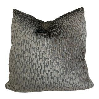 """Duralee Long Dot Cut Velvet in Dusk 22"""" Pillows-Pair For Sale"""