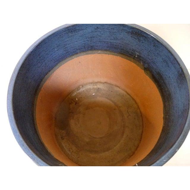 Gainey Ceramics Mid Century Modern Blue Planter For Sale - Image 5 of 6