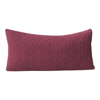 Red Cashmere Throw Pillow