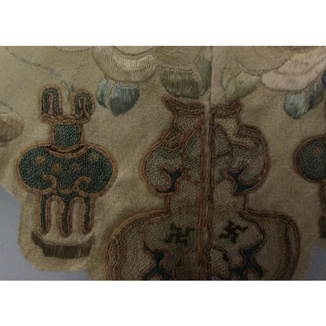 19th Century Chinese Framed Embroidery - A Pair For Sale - Image 4 of 11