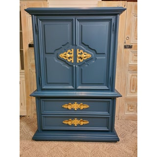 1960's Vintage Blue Armoire Preview
