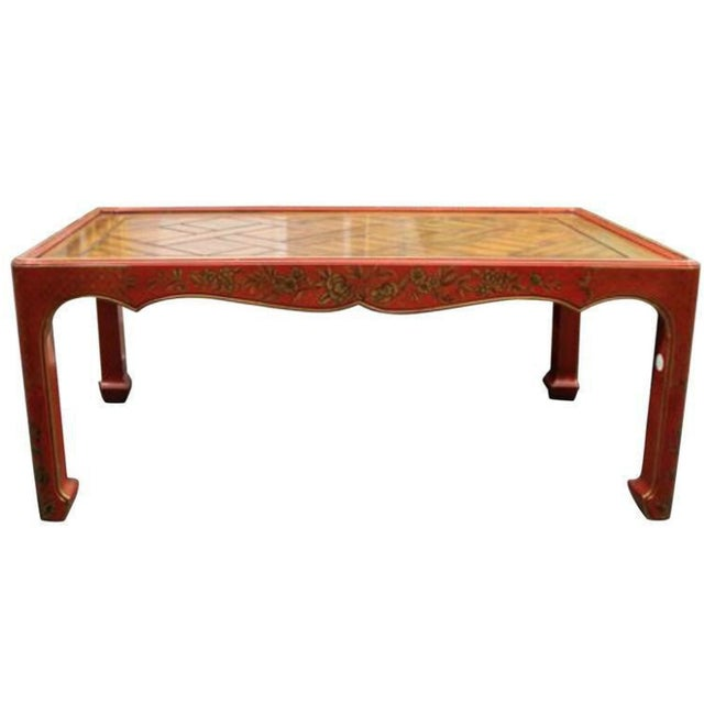 A chinoiserie decorated low table.