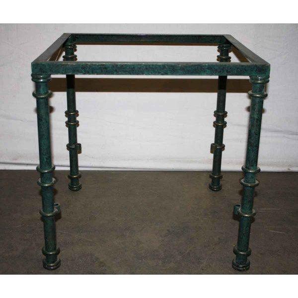 Metal table base unit.