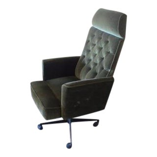 C. 1970s Green Office Chair